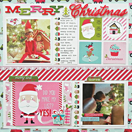 CHRISTMAS Santa/'s Elf 12X12 Scrapbooking Kit Doodle Bug Design New