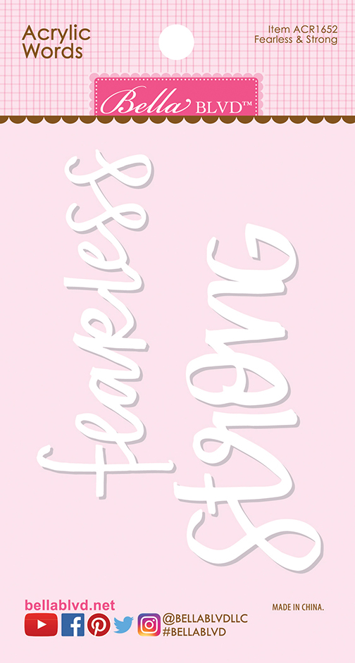 Fearless & Strong Words [ACR1652] : Doodlebug Design